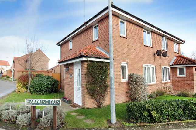 Thumbnail Semi-detached house for sale in Springfield, Acle, Norwich