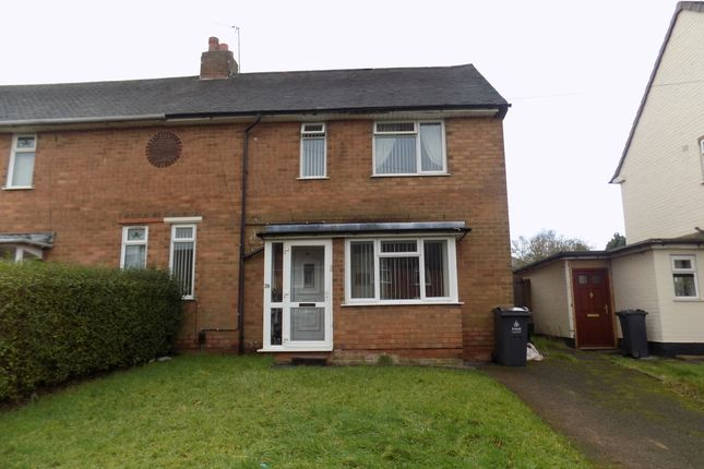 Thumbnail End terrace house for sale in Bickley Road, Rushall, Walsall
