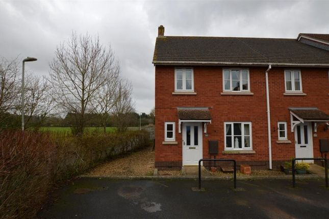 Thumbnail End terrace house for sale in Cromwells Meadow, Crediton, Devon