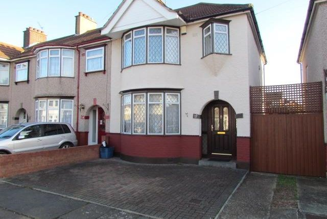 Thumbnail Semi-detached house to rent in Conway Crescent, Chadwell Heath, Romford