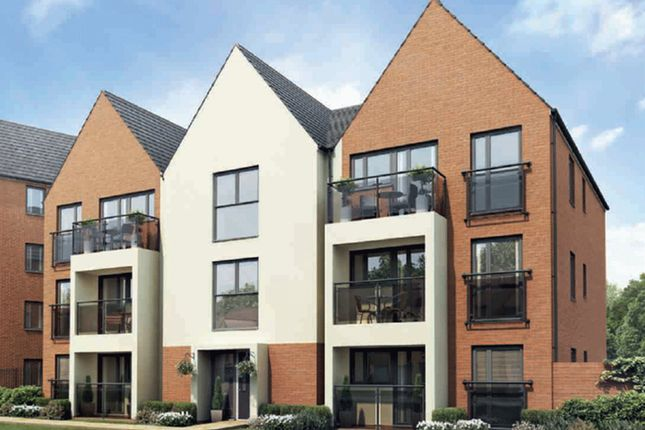 "Thumbnail Flat for sale in ""Lowesbury"" at Caledonia Road, Off Kiln Farm, Milton Keynes"