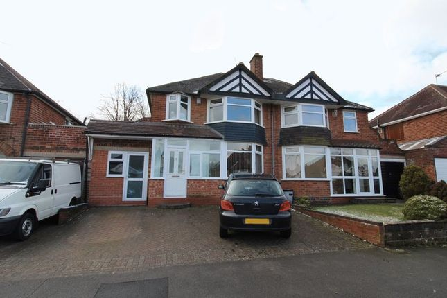 Thumbnail Semi-detached house for sale in Loynells Road, Rednal, Birmingham