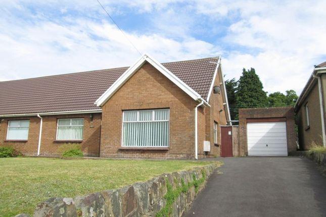 Thumbnail Semi-detached bungalow to rent in Bridgend Road, Bryncethin, Bridgend