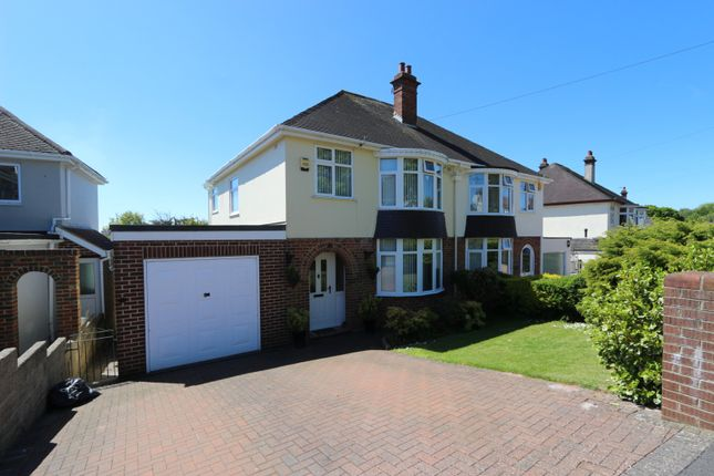 Thumbnail Semi-detached house for sale in Shiphay Park Road, Torquay