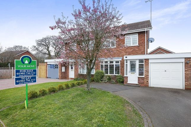 Thumbnail Semi-detached house for sale in Gainsborough Drive, Perton, Wolverhampton