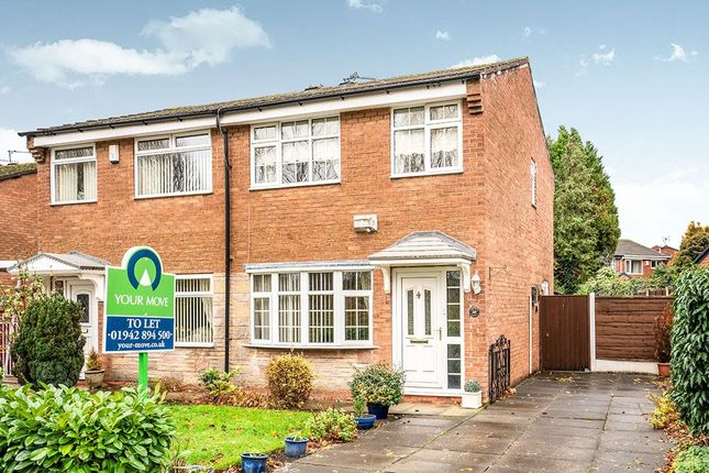 Thumbnail Semi-detached house to rent in Withington Drive, Astley, Tyldesley, Manchester