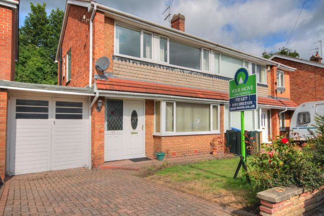 Thumbnail Semi-detached house to rent in Kingsmere, Chester Le Street