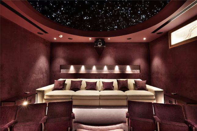 Cinema Room of Draycott Place, Chelsea, London SW3