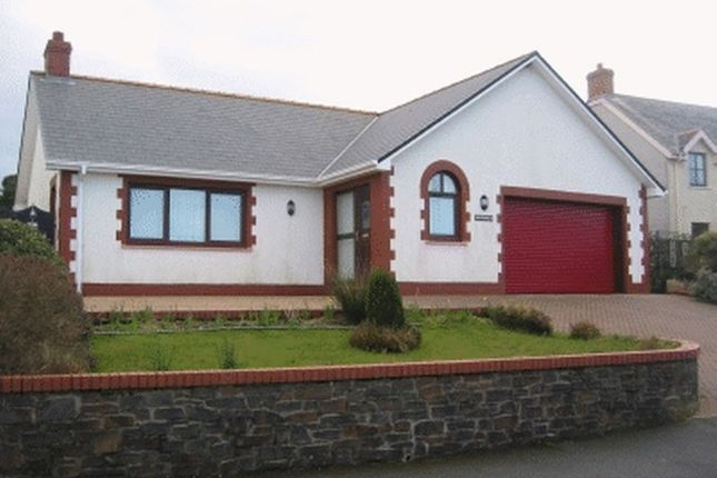 Thumbnail Detached bungalow to rent in Heol Caradog, Fishguard