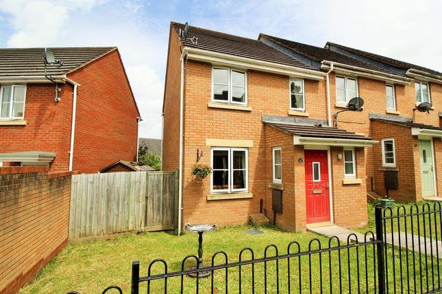 Thumbnail End terrace house for sale in Powlesland Road, Alphington, Exeter