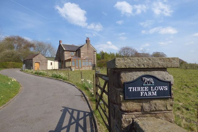 Thumbnail Property for sale in Three Lows Farm, Star Road, Oakamoor, Staffordshire