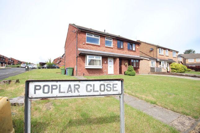 Thumbnail Semi-detached house to rent in Poplar Close, Rishton, Blackburn. Lancs.