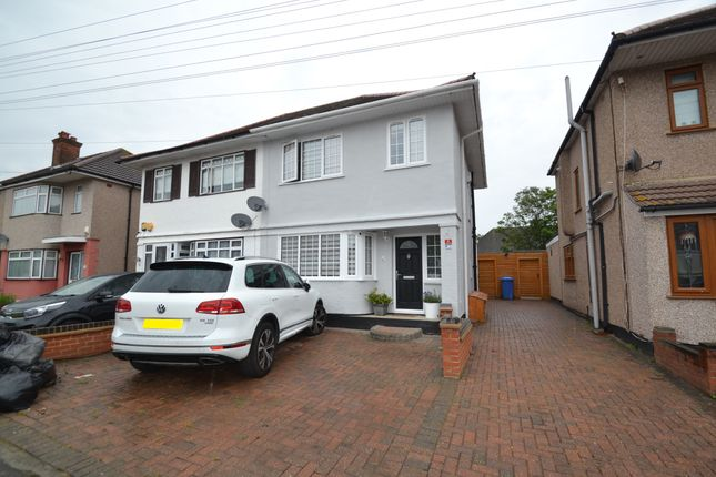 Thumbnail Semi-detached house for sale in Lynwood Drive, Collier Row, Romford