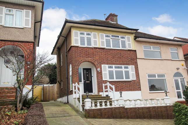 Thumbnail Semi-detached house to rent in Kingshill Avenue, Romford, Essex