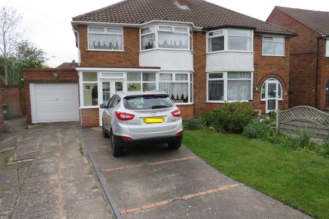 Thumbnail Semi-detached house for sale in Mullensgrove Road, Kingshurst, Birmingham