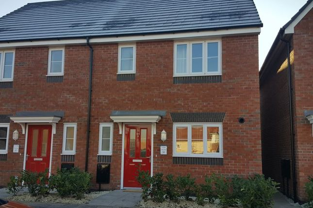 Thumbnail Semi-detached house to rent in Blockley Road, Hadley, Telford