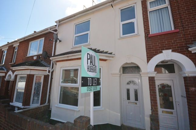 Thumbnail Terraced house to rent in Winnipeg Road, Lowestoft
