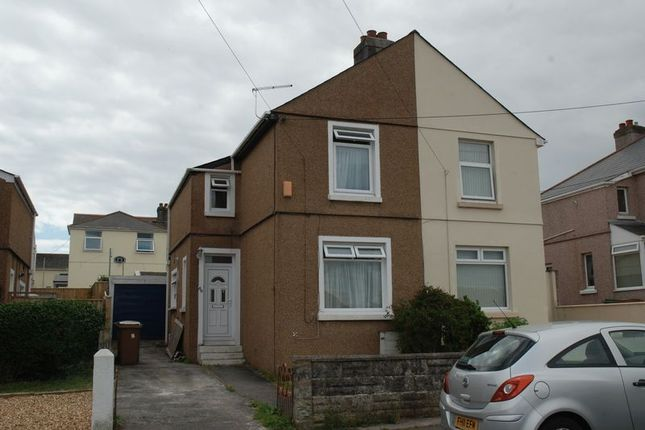 Thumbnail Semi-detached house to rent in Marina Road, Plymouth