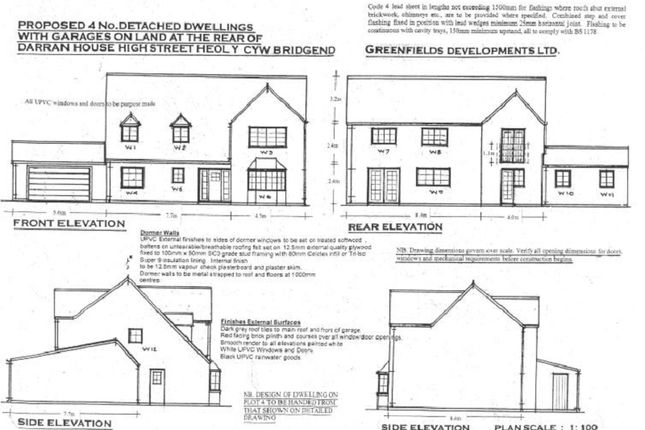 Thumbnail Detached house for sale in Greenfields Lane, Heol Y Cyw, Bridgend.