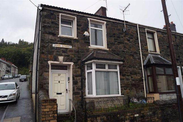 Thumbnail End terrace house for sale in John Street, Abercwmboi, Aberdare