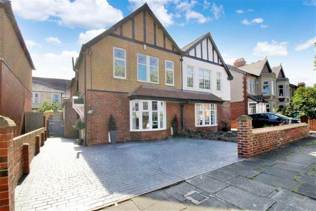 Thumbnail Semi-detached house for sale in Evesham Avenue, Whitley Bay