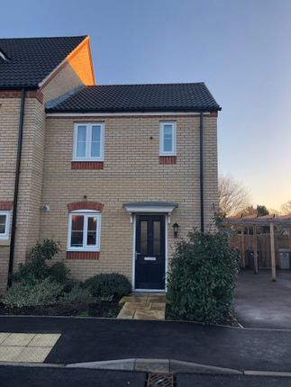 Thumbnail End terrace house to rent in Thirsk Close, Bourne