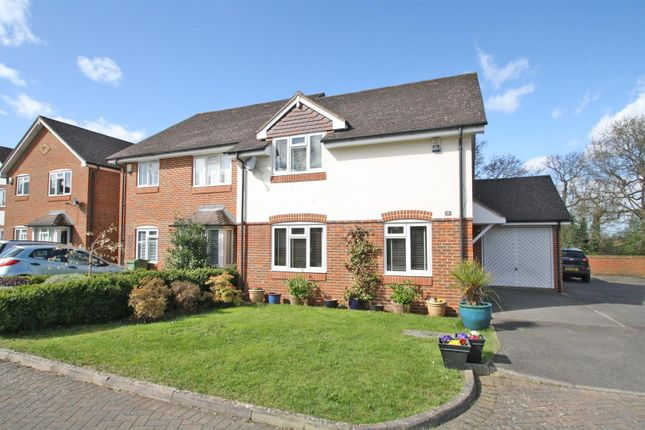 Thumbnail Semi-detached house for sale in Highclere, Burpham, Guildford