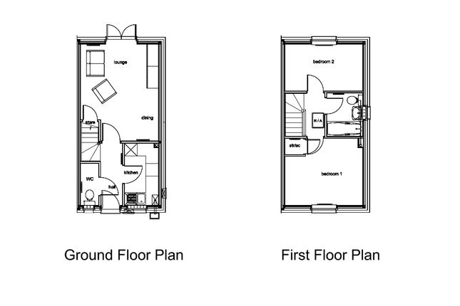 Floor Plan of Plot 46 Persimmon Parc Brynderi, Llanelli SA14