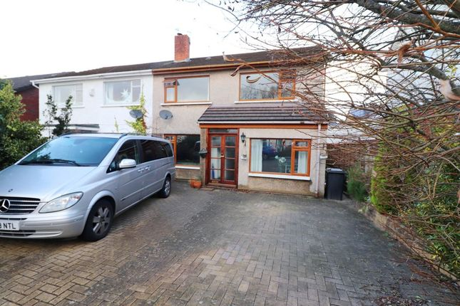 Thumbnail Semi-detached house for sale in Nant-Fawr Crescent, Cyncoed, Cardiff