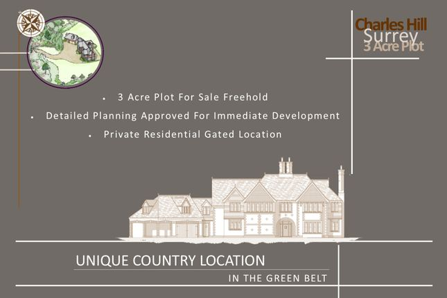 Thumbnail Land for sale in Charles Hill, Tilford, Surrey