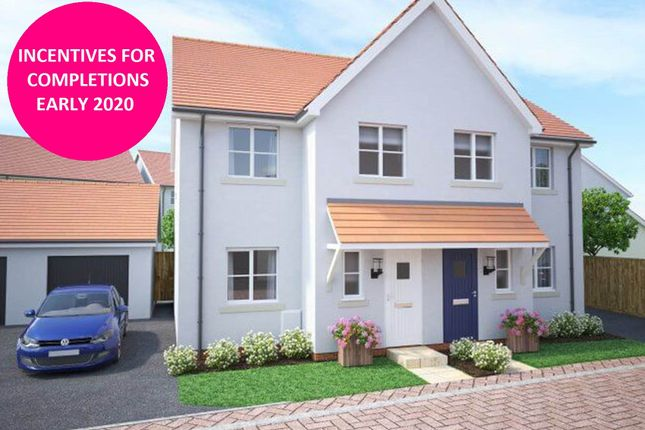 Thumbnail Semi-detached house for sale in Walters Field, Roundswell, Barnstaple