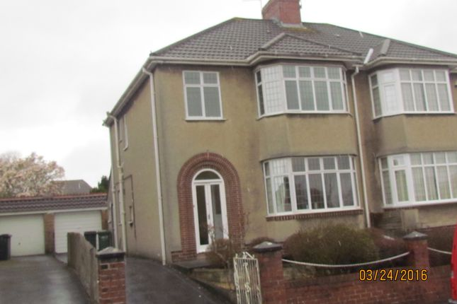 Thumbnail Semi-detached house to rent in Cleeve Lodge Road, Downend, Bristol