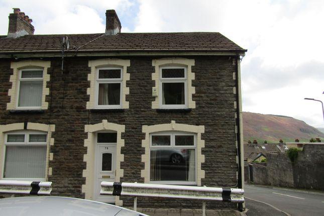 Thumbnail End terrace house for sale in Edward Street, Maerdy