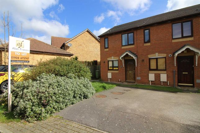 Thumbnail End terrace house to rent in Valentine Court, Crownhill, Milton Keynes