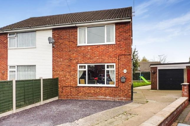 Thumbnail Semi-detached house for sale in Cedar Close, Uttoxeter