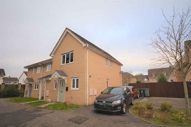 Thumbnail End terrace house for sale in Ffordd Brynhyfryd, Old St. Mellons, Cardiff.
