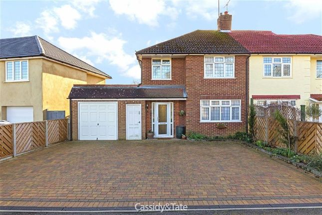 Thumbnail Semi-detached house for sale in St Albans Road West, Ellenbrook, Hertfordshire