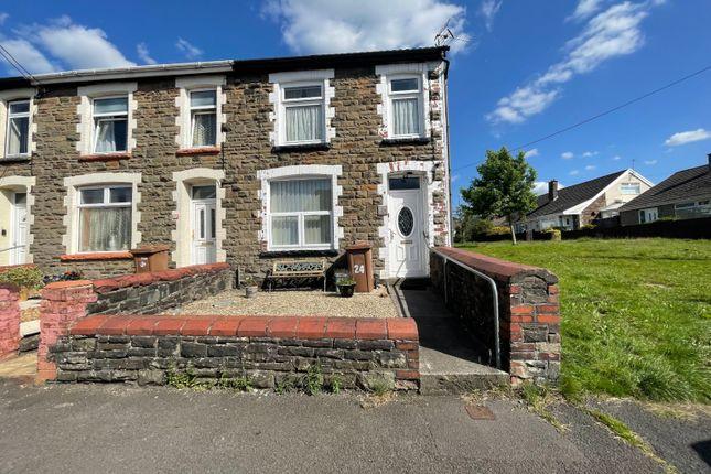 Thumbnail End terrace house for sale in Gellideg Street, Maesycwmmer, Hengoed