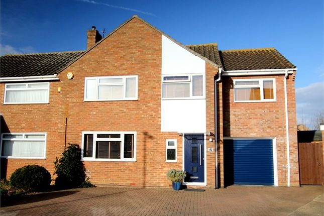 Thumbnail Semi-detached house for sale in Curlew Place, St. Neots