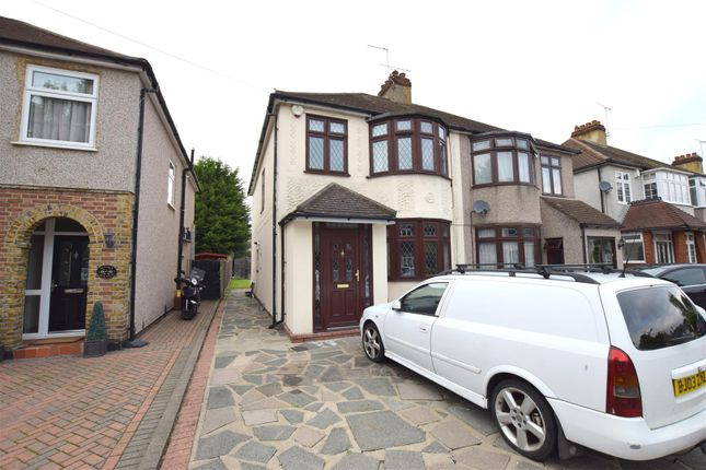 Thumbnail Semi-detached house for sale in Sussex Avenue, Harold Wood, Romford