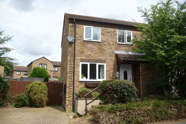 Thumbnail Semi-detached house to rent in Burghley Court, Great Holm, Milton Keynes
