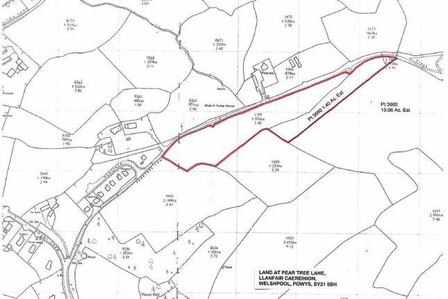 Thumbnail Farm for sale in Land At Pear Tree Lane, Llanfair Caereinion, Welshpool, Powys