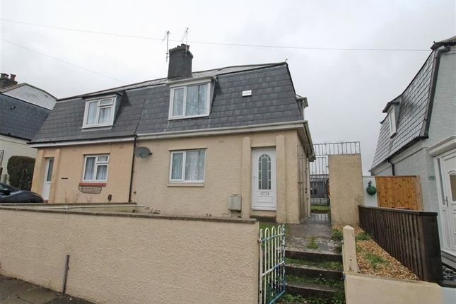Thumbnail Semi-detached house for sale in Mount Gould Road, Lipson, Plymouth