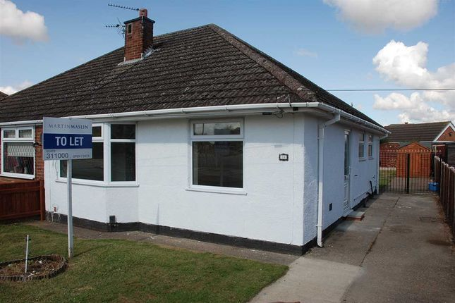 Thumbnail Semi-detached bungalow to rent in Coniston Avenue, Scartho, Grimsby
