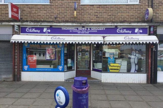 Thumbnail Retail premises for sale in Thornhill Road, Halesowen