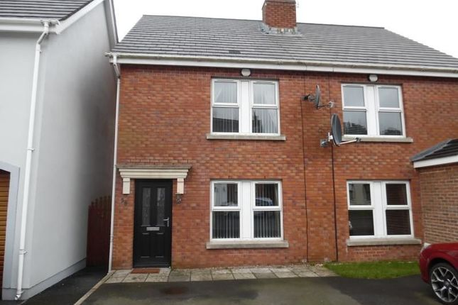 Thumbnail Semi-detached house to rent in Alderley Place, Newtownabbey