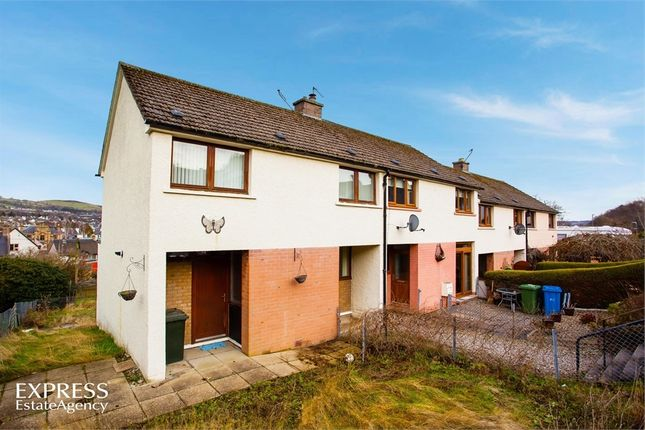 Thumbnail End terrace house for sale in Cluny Road, Dingwall, Highland