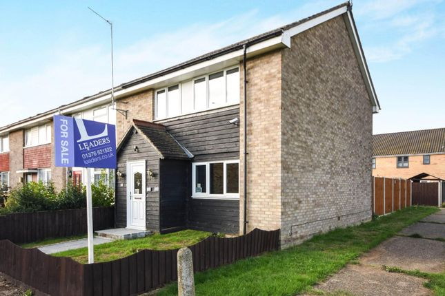 Thumbnail End terrace house for sale in Siward Road, Witham