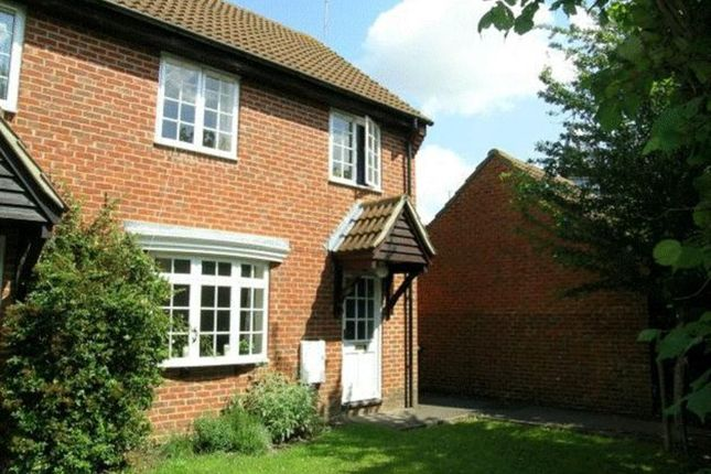 Thumbnail End terrace house to rent in Freemans Close, Hungerford