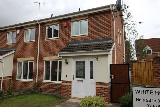 Thumbnail Semi-detached house to rent in White Rose Avenue, Mansfield, Nottinghamshire